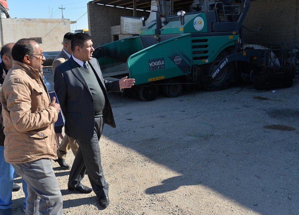 محافظ المثنى يوجه بلدية السماوة بإعادة تأهيل بعض الاحياء والشوارع الرئيسة في السماوة