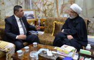 محافظ المثنى يلتقي المتولي الشرعي للعتبة الحسينية المقدسة