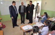 محافظ المثنى يزور مدرسة الناسكات الابتدائية للبنات في السماوة