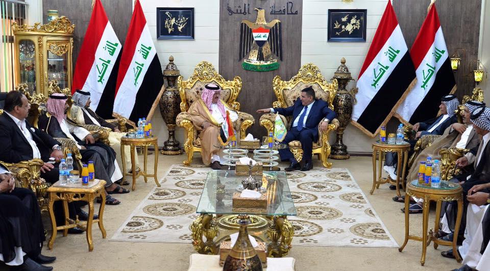 محافظ المثنى يلتقي عضو مجلس النواب العراقي عبد الكريم عبطان الجبوري ويبحث معه كيفية النهوض بواقع المحافظة