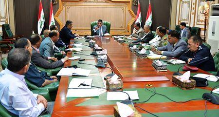 محافظ المثنى يترأس اجتماع اللجنة الامنية العليا