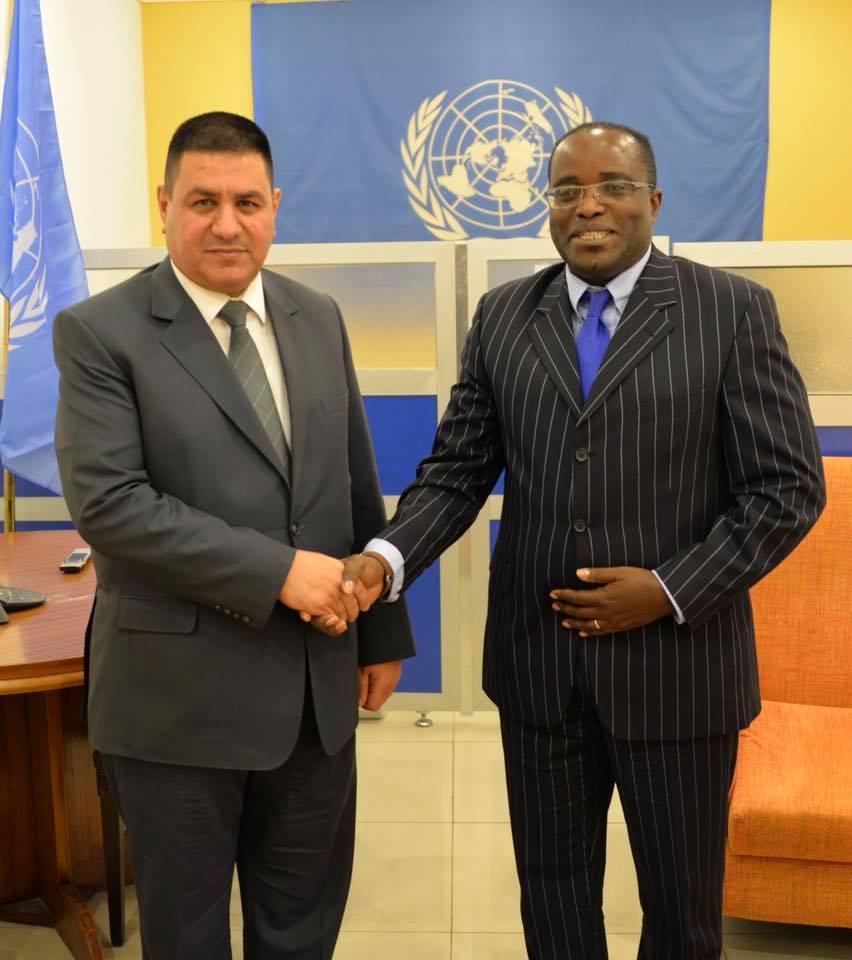 محافظ المثنى يلتقي مسؤول البرنامج الاقليمي في مكتب الأمم المتحدة بالبصرة