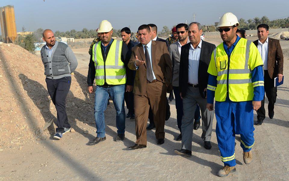 محافظ المثنى : استئناف العمل في مشروع جسر شمال السماوة والانجاز في حزيران القادم