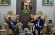 محافظ المثنى يستقبل القنصل الإيراني في محافظة النجف