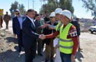محافظ المثنى يتابع مراحل تنفيذ العمل في مشروع جسر ناحية الدراجي