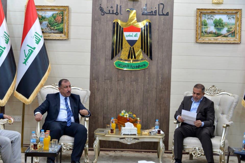 محافظ المثنى يستقبل مدير مكتب مفوضية الانتخابات في المحافظة