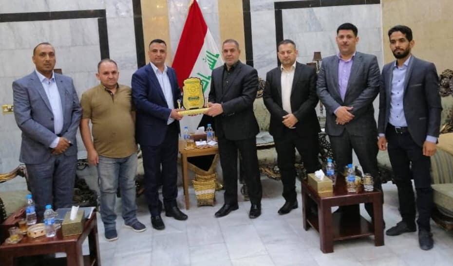 محافظ المثنى يلتقي وفد من نقابة المهندسين العراقيين / فرع المثنى