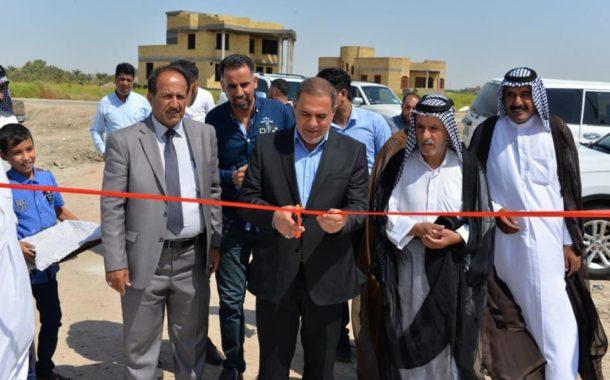 محافظ المثنى يفتتح مشروع ماء منطقة (ال بو شطيط) في قضاء الخضر
