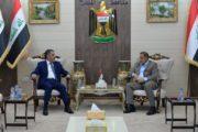 محافظ المثنى يستقبل وزير العمل والشؤون الاجتماعية ويبحث معه تحقيق مطالب أبناء المحافظة