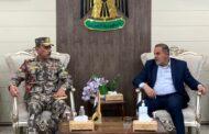 محافظ المثنى يبحث مع قائد قيادة حرس حدود المنطقة الخامسة  تأمين الشريط الحدودي مع المملكة العربية السعودية