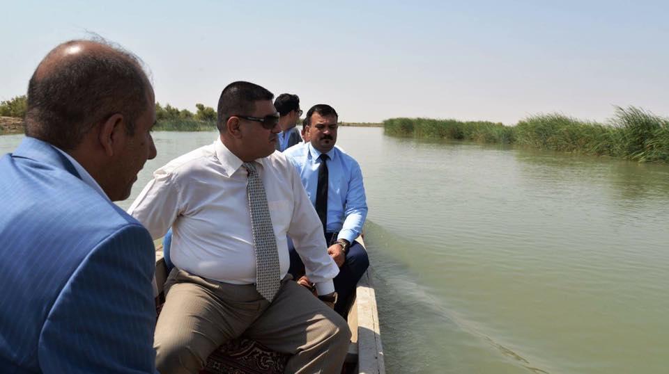 محافظ المثنى يزور هور الصليبات ويعلن عمل الحكومة على انضمامه الى اتفاقية رامسار للأراضي الرطبة