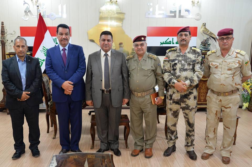 محافظ المثنى يستقبل وفدا من لجنة متابعة عوائل الشهداء والجرحى في قيادة عمليات بغداد