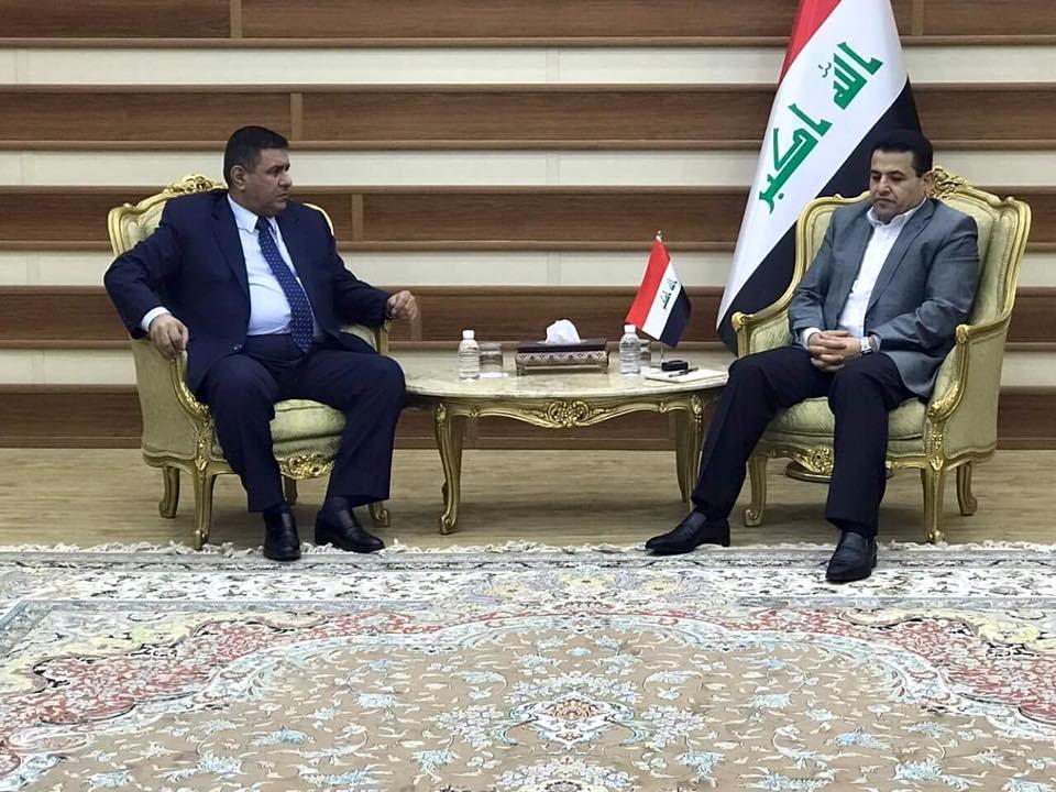 محافظ المثنى يلتقي وزير الداخلية في العاصمة بغداد