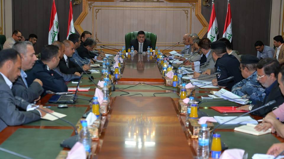 محافظ المثنى يترأس اجتماعا لمناقشة الاستراتيجية الوطنية لإزالة الألغام