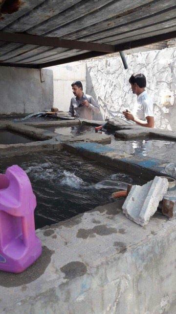 دائرة ماء المثنى تطلق حملة لرفع التجاوزات عن شبكة ماء الاسالة