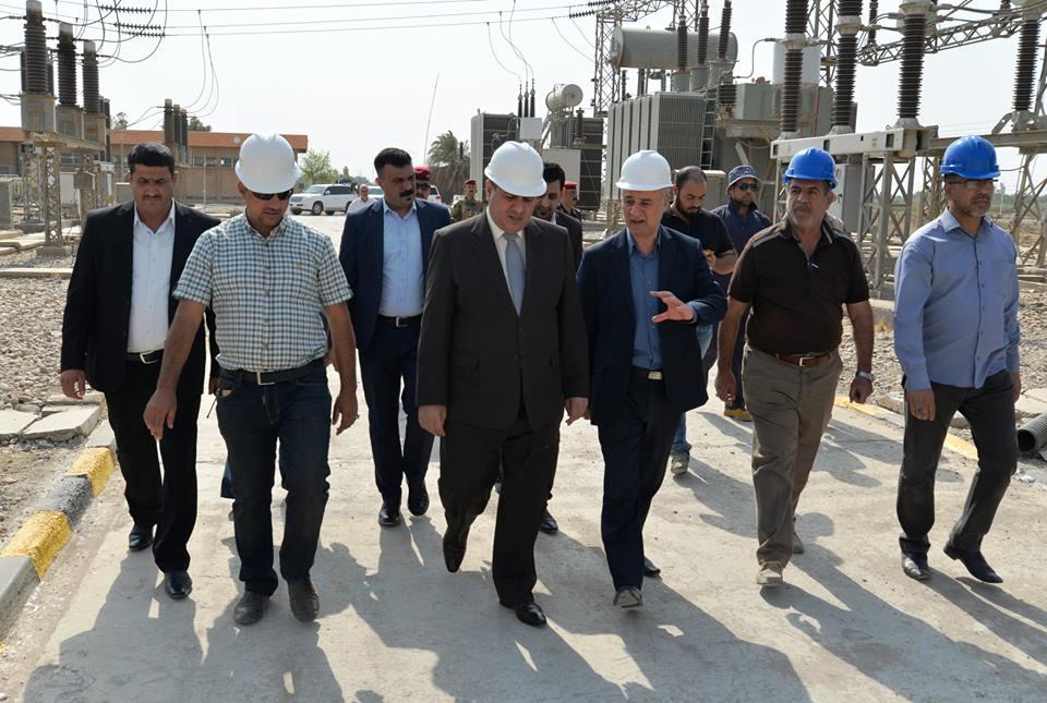 محافظ المثنى يفتتح محطة كهرباء تحويلية في الرميثة