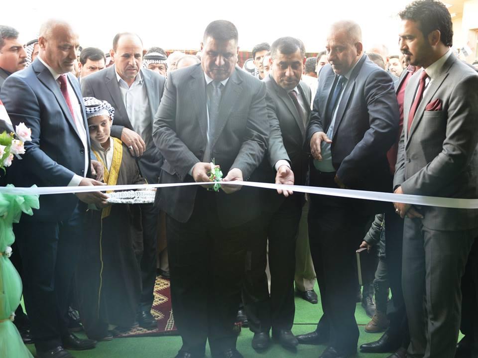 بحضور محافظ المثنى الدكتور فالح الزيادي الشركة العامة للتجهيزات الزراعية تفتتح معرضها الدائم للمعدات الزراعية