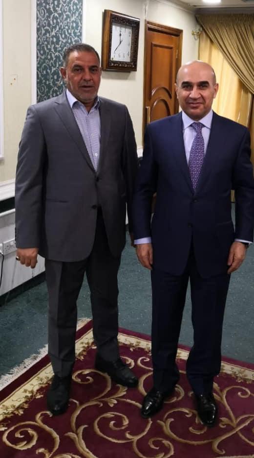 محافظ المثنى يلتقي وزير الاعمار والاسكان والبلديات العامة