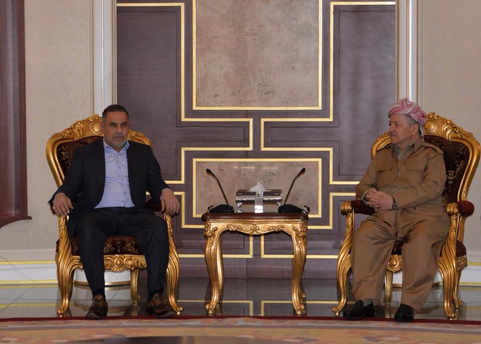 خلال لقائه محافظ المثنى ... البارزاني: اعضاء الحزب الديمقراطي الكردستاني في مجلس النواب العراقي سيكونون صوت المثنى والمدافعين عن حقوقها