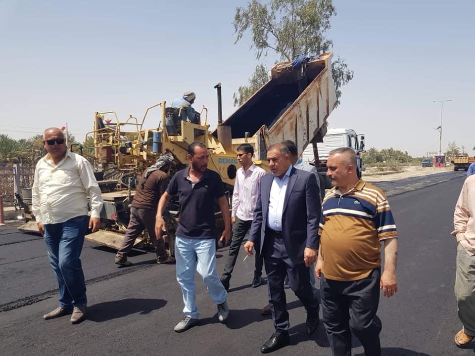 محافظ المثنى يتفقد بعض المناطق في قضاء الرميثة ويوجه بتأهيل الممر الثاني لمجسر الشهيد محمد علي الحساني وتنظيم مدخل المدينة