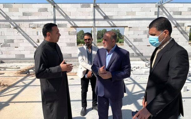 محافظ المثنى  يطلع  على مراحل العمل في  مشروع  المستشفى الميداني بالهلال